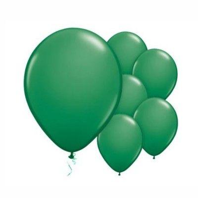 Ballonger - grön metallic - 10 st