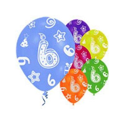 Ballonger - 6 år - 6 st