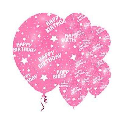 Ballonger - happy birthday - rosa - 6 st