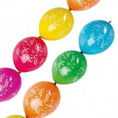 Ballonger - girlang - Happy birthday - 6 st
