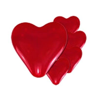 Ballonger - hjärta - röd - 5 st