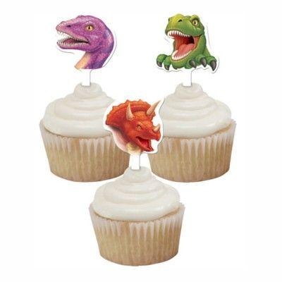 Cupcakedekorationer - dinosaurier
