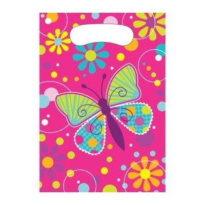Godispåsar - fjärilar - 8 st
