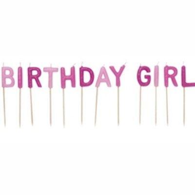 Tårtljus - Birthday girl