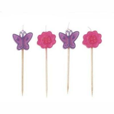 Tårtljus - feer - blommor & fjärilar