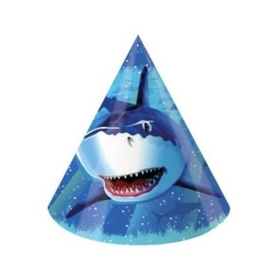 Partyhattar - Shark splash - 8 st