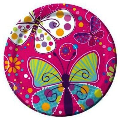 Kalastallrikar - fjärilar - 8 st