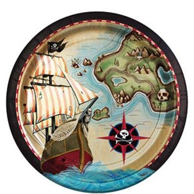 Kalastallrikar - Pirate's Map - 8 st