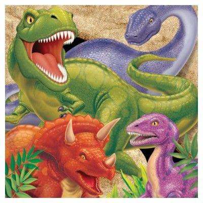 Kalasservetter - dinosaurier - 16 st