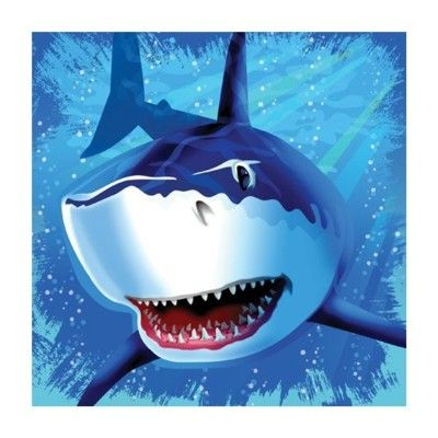 Kalasservetter - Shark splash - 16 st