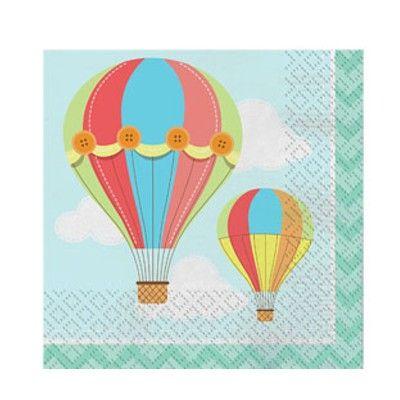 Kalasservetter - luftballonger - 16 st