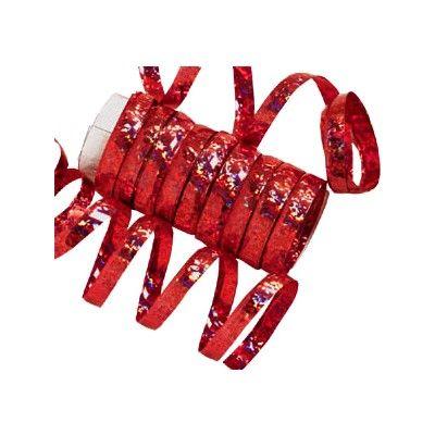 Serpentiner - röd metallic