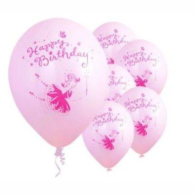 Ballonger - feer - Happy Birthday, 6 st