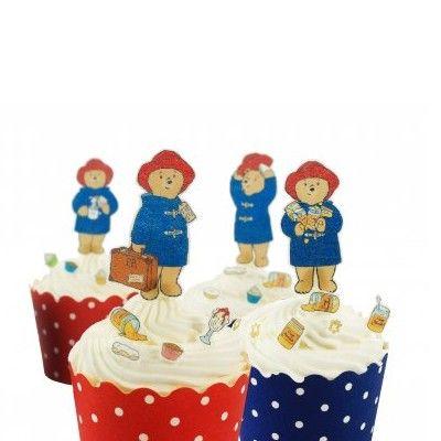 Ätbara dekorationer till muffins - Paddington Bear