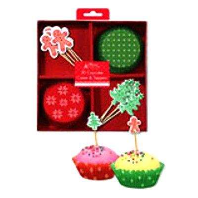 Muffinsformar med dekorationer - jul