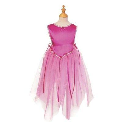 Prinsessklänning i tyll - mörkrosa  -  5-7 år