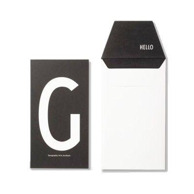 Kort med kuvert - G - Design Letters