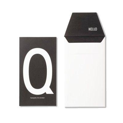 Kort med kuvert - Q - Design Letters