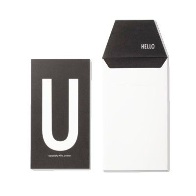 Kort med kuvert - U - Design Letters