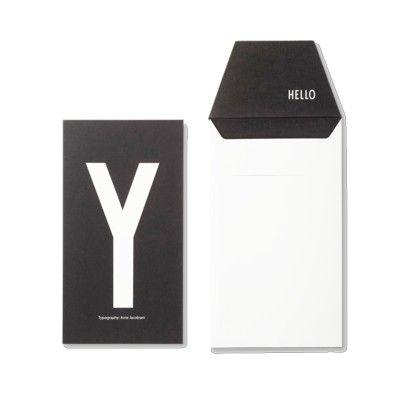 Kort med kuvert - Y - Design Letters