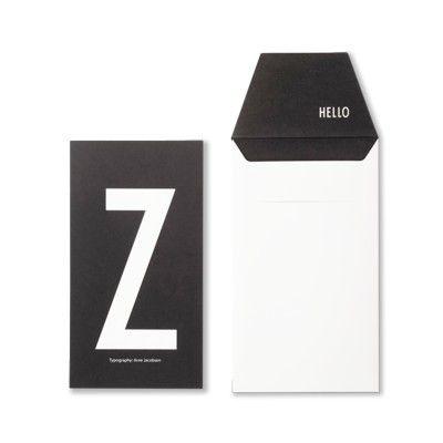 Kort med kuvert - Z - Design Letters