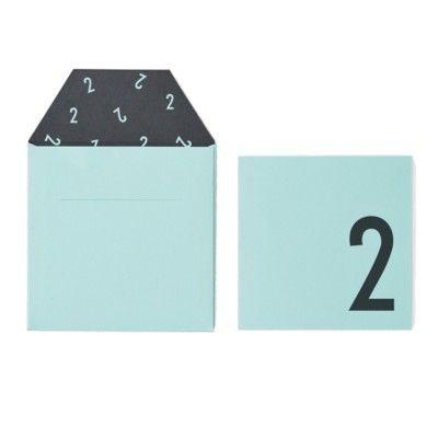 Kort med kuvert - Mint 2 år - Design Letters