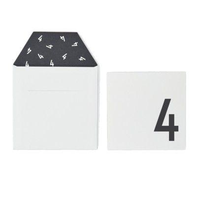 Kort med kuvert - Vit 4 år - Design Letters