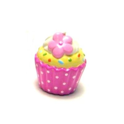 Sparbössa i porslin - rosa cupcake med blomma