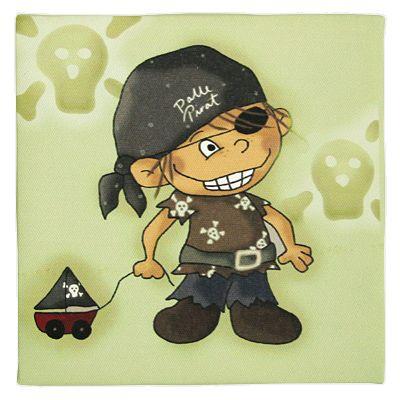 Tavla - Palle Pirat med båt