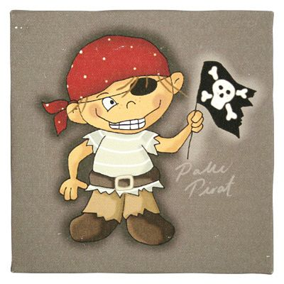 Tavla - Palle Pirat med flagga
