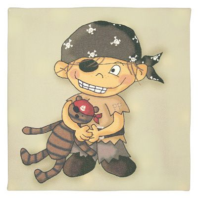 Tavla - Palle Pirat med nalle