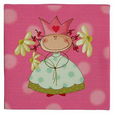 Canvastavla - prinsessa med en bukett blommor