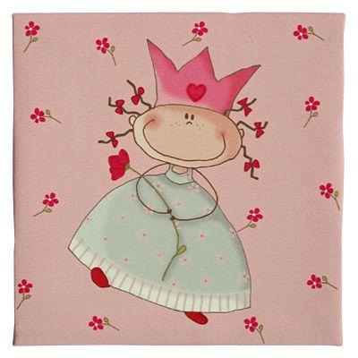Canvastavla - prinsessa med en röd blomma