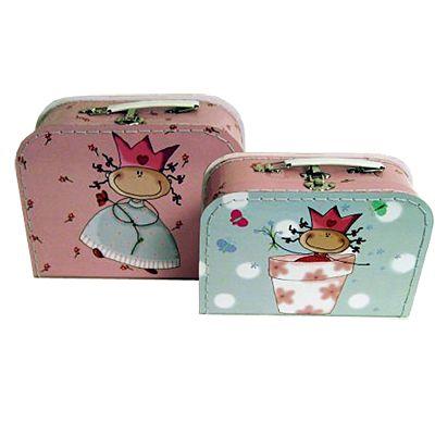 Koffert-set, 2 st - Prinsessan Flora