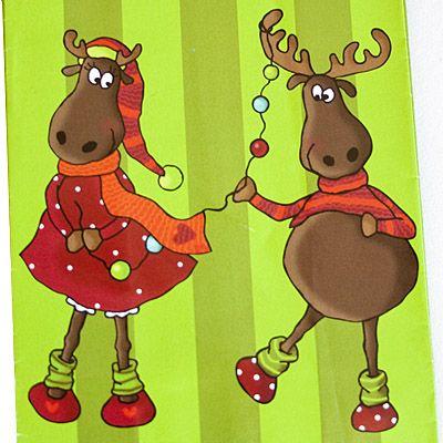 Kalenderpåsar - Roliga renar