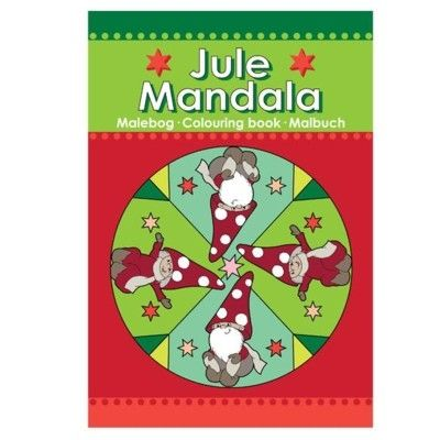 Julpyssel - Mandala målarbok