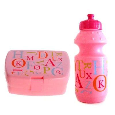 Matlåda och drickflaska - bokstäver