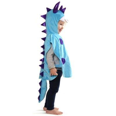 Monsterdräkt - blå, 3-8 år