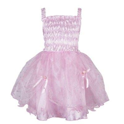 Feklänning - rosa med silverblommor, 5 år