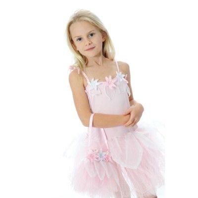 Blomsterklänning - rosa, 4-6 år (Fair Trade)