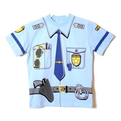 T-shirt - polis, 3-4 år