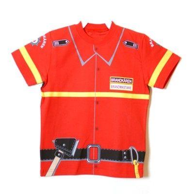 T-shirt, brandman, 3-4 år