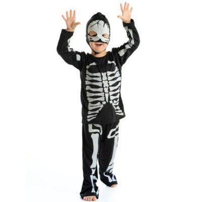 Utklädning - skelett, 4-6 år