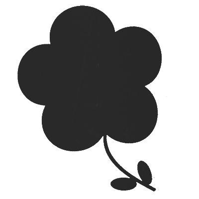 Wallstickers - griffeltavla - blomma
