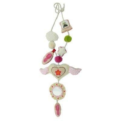 Mamma/barn-halsband - Vingar, rosa