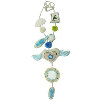 Mamma/barn-halsband - Vingar, blå