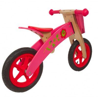 Balanscykel i trä - rosa