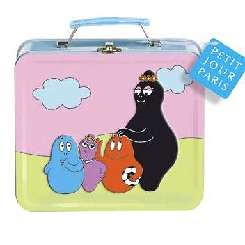 Koffert i plåt med Barbapapa