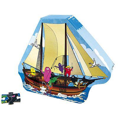 Pussel - Barbapapafamiljen på piratskepp