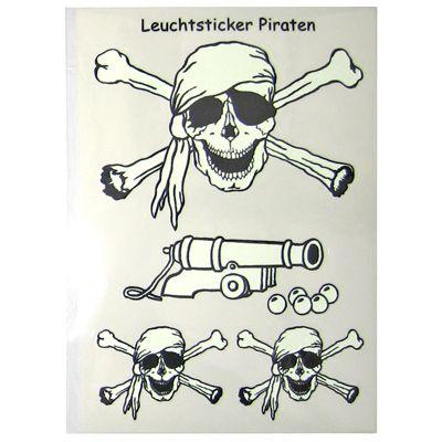 Självlysande piratklistermärken
